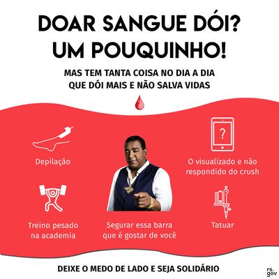3deff5f19d747 Lançada no início do ano, a campanha de doação de sangue do Governo do Rio  Grande do Sul chamou a atenção para a necessidade de novas contribuições.